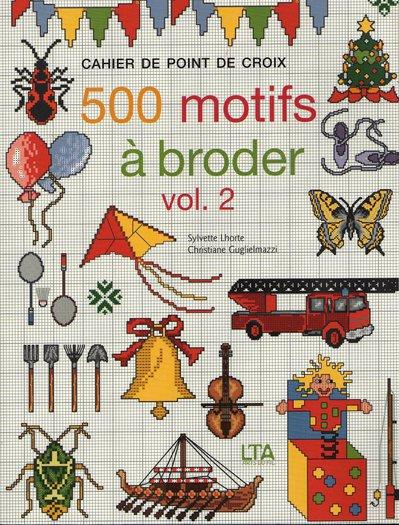 500 motifs à broder - Volume 2