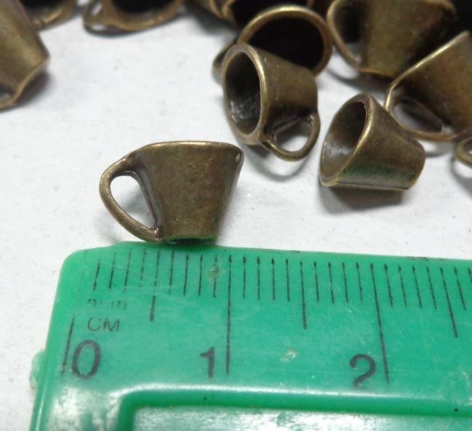 10 Ciondoli in Argento Tibetano TAZZINE