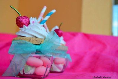 bomboniera cupcake grande originale con vasetto