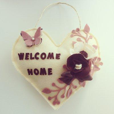 Fuoriporta a cuore WELCOME HOME