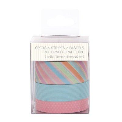 Craft Tape - Spots & Stripes Pastels