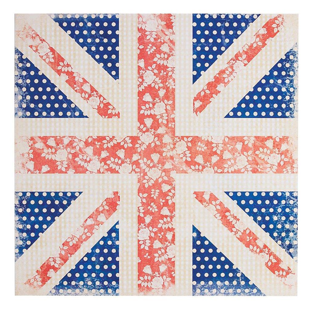 Foglio 30x30 cm - Union Jack Floral