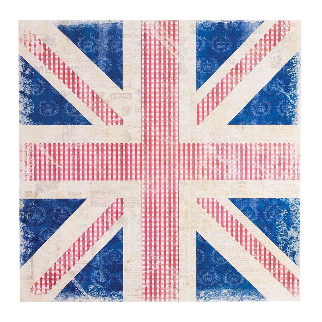 Foglio 30x30 cm - Union Jack Vintage
