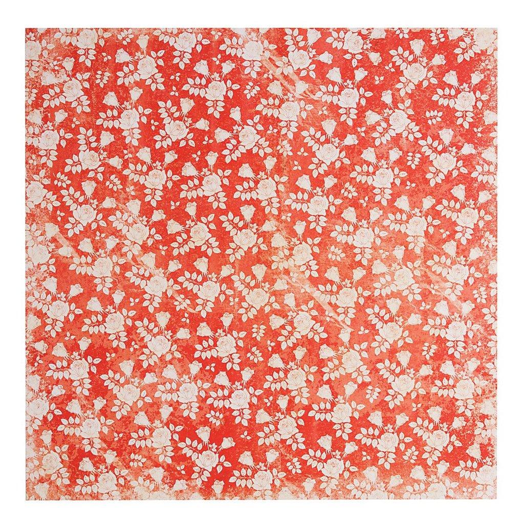 Carta 30x30 cm - Vintage Rose Red