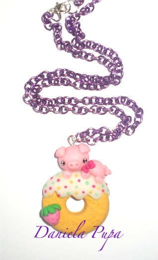 collana Pig on donut