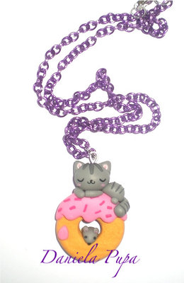 Collana Cat on Donut