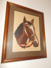 quadro a mezzo punto cavallo con cornice