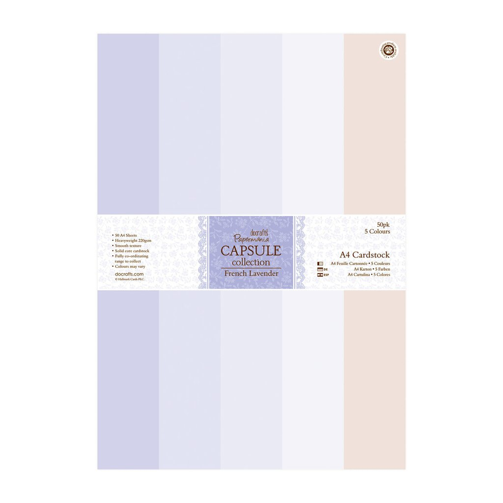 A4 Cardstock Pack - French Lavender