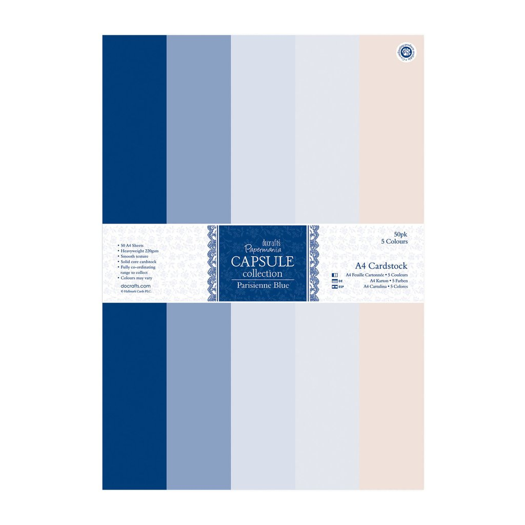 A4 Cardstock Pack - Parisienne Blue