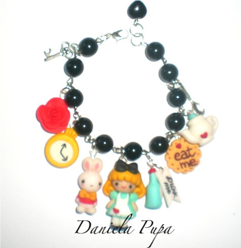 bracciale Alice e charms
