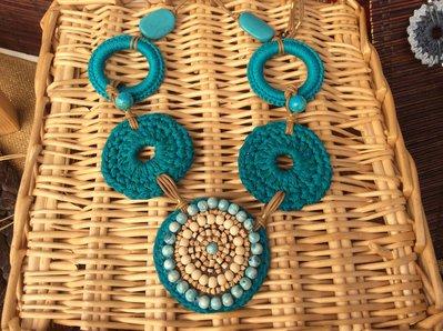 Collana etnica turchese