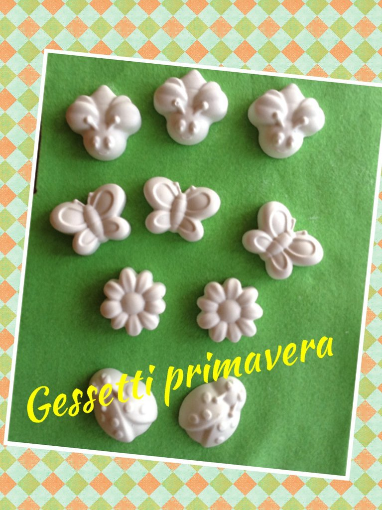 Gessetti profumati chiudi pacco segnaposto bomboniera fiore farfalla coccinella.....