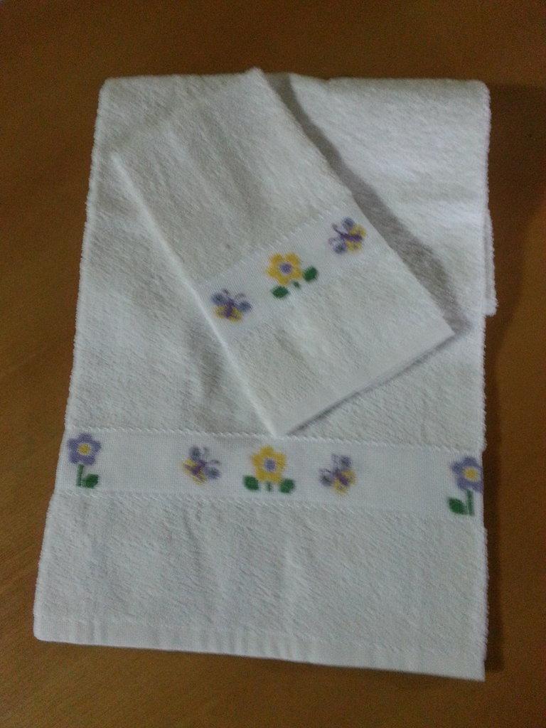 Coppia Asciugamani in Spugna