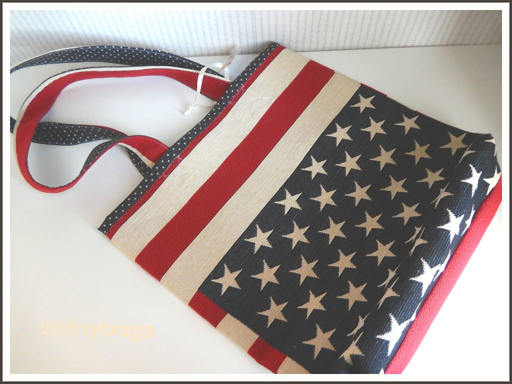 Borsa bandiera americana di stoffa handmade★