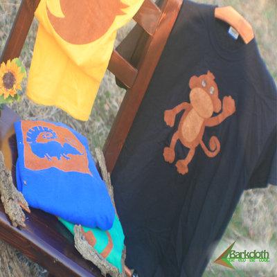 T-shirt 100% Organic SCIMMIETA - Nera unisex (Taglia M)