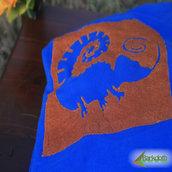 Felpa ECO - CAMALEONTE - Blu unisex (Taglia M)