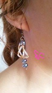 """Parure con perline.collana,anello,orecchini """"Tiffany"""""""