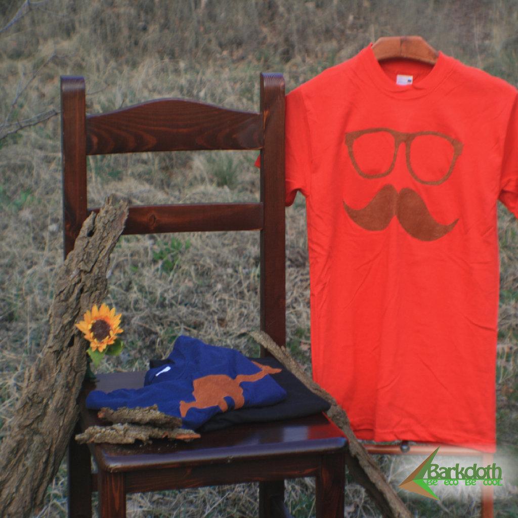 T-shirt 100% Organic  BAFFO&OCCHIALI - Rossa unisex (Taglia S)