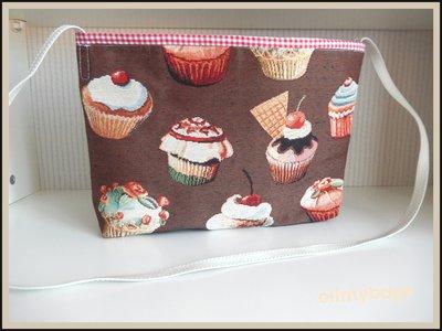 Borsa tracolla pasticcini dolcetti di stoffa handmade☆