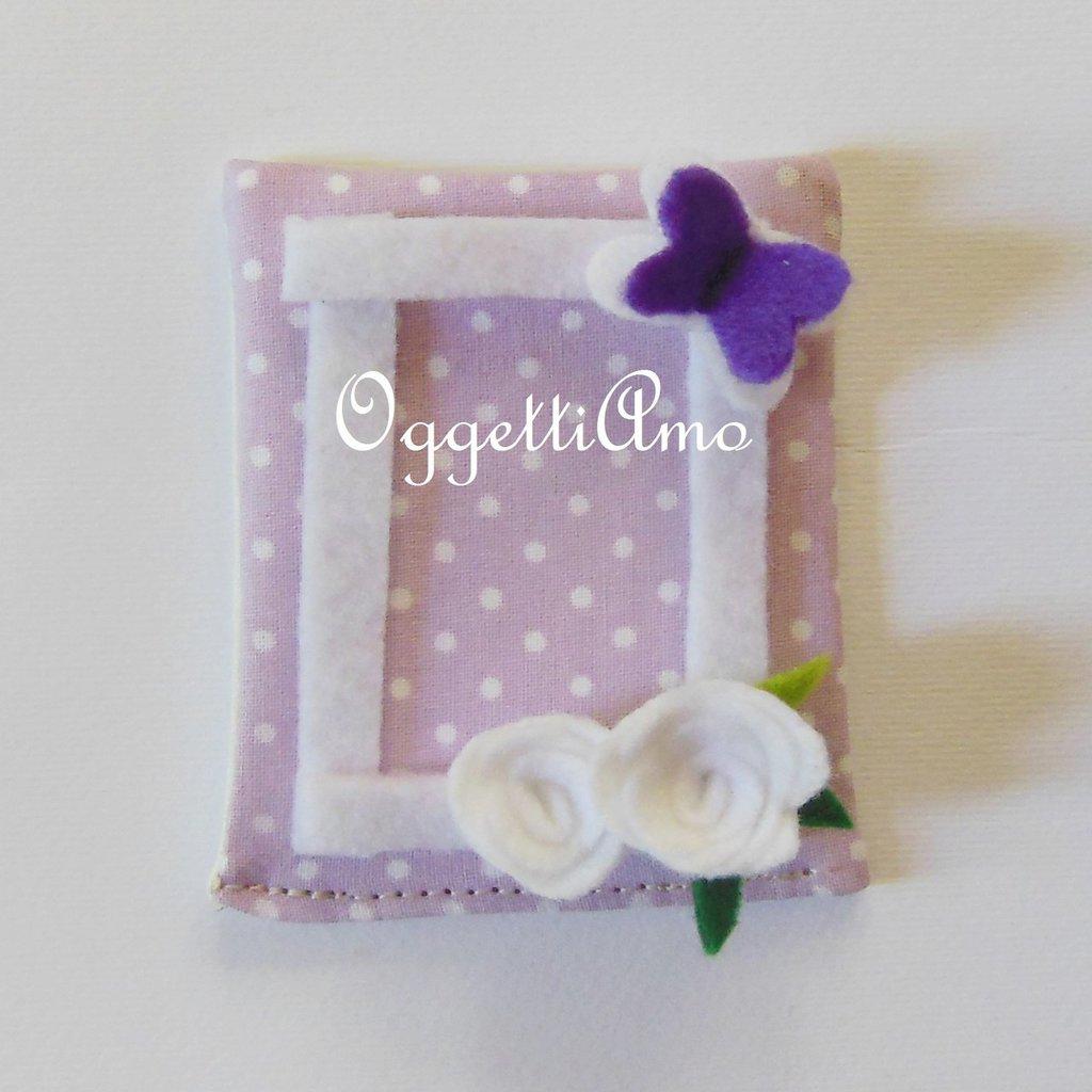 Bomboniera in feltro lilla e verde con farfalline e fiorellini: un'idea regalo originale per il battesimo della vostra bambina!