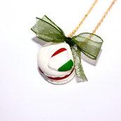 """Collana con Macaron """"Made in Italy"""""""