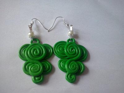 Orecchini in fimo verde