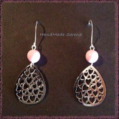 orecchini pendenti con filigrana perla