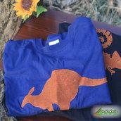 T-shirt 100% Organic CANGURO - Blu unisex (Taglia XL)