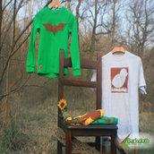 Felpa ECO bambino - BAT - Verde unisex (Taglia S)