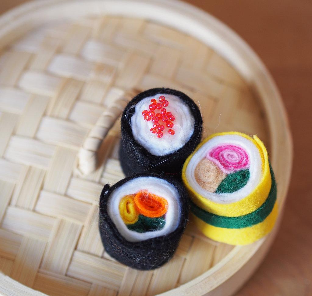 Sushi con tocco di giallo