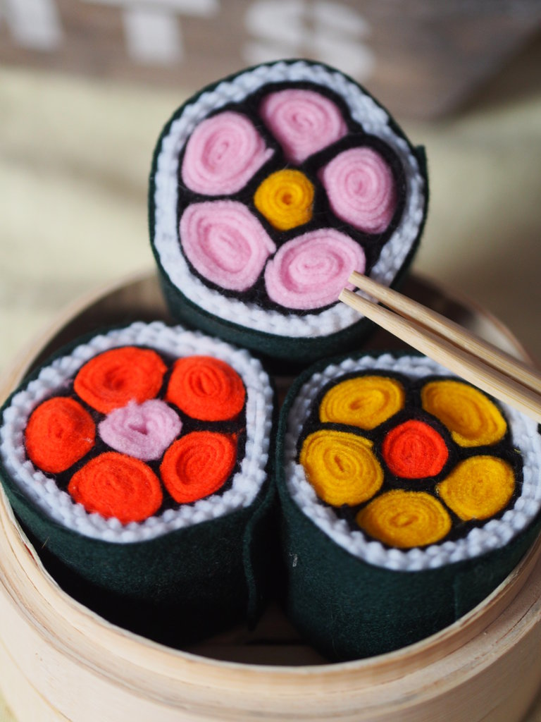 tris di sushi in allegria