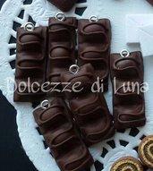 1 pezzo ciondolo charm merendina duplo in fimo fatta a mano senza stampi per orecchini o bracciali