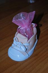 scarpa rosa in fimo con stella