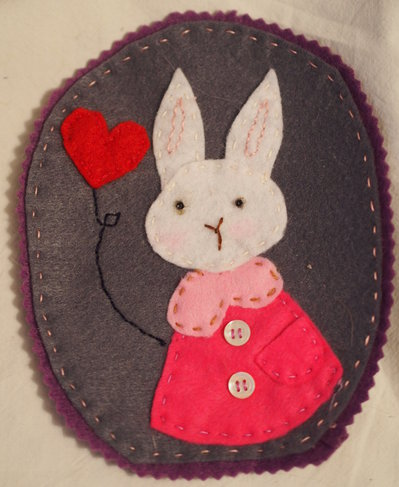 Tiglio il coniglio.Illustrazione in feltro.Quadretto.Nascita.Camera dibimbi.Decorazione.Bomboniera