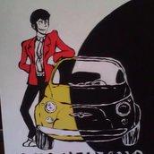 quadro in acrilico Lupin