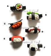 1pz Pinzette - Clip per capelli  Sushi kawaii idea regalo Japan Sushi Ikura, kappa maki, Ebi, Tamago, Onigiri idea regalo Sashimi