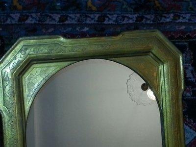 Antico specchio con cornice dorata metà '800