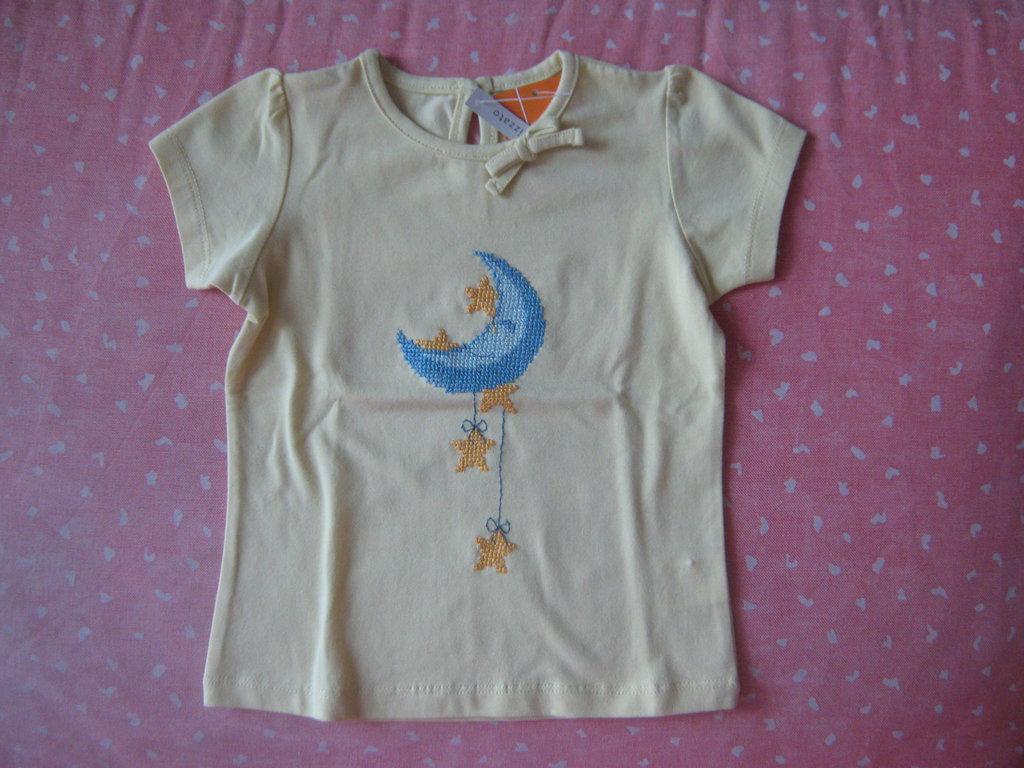 maglietta bimba con luna