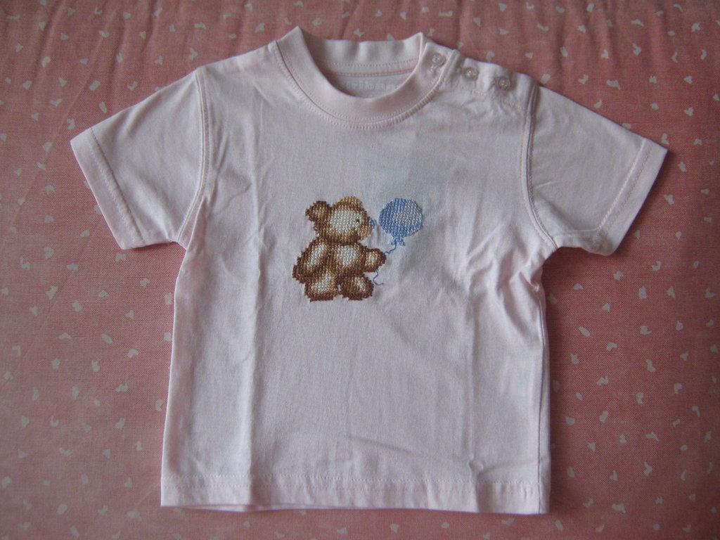 maglietta rosa con orsetto