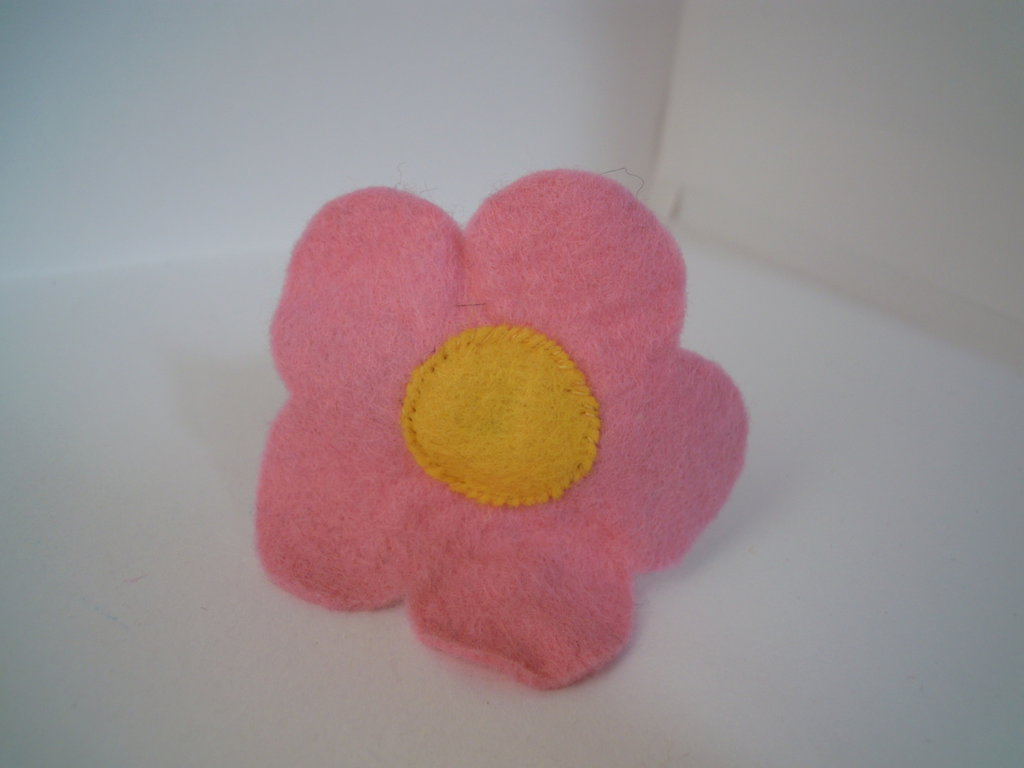 Ferma coda fiore rosa/vinaccia