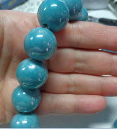 6 Perline in Porcellana Perlata