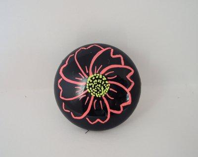 Anello bottone fiore fucsia