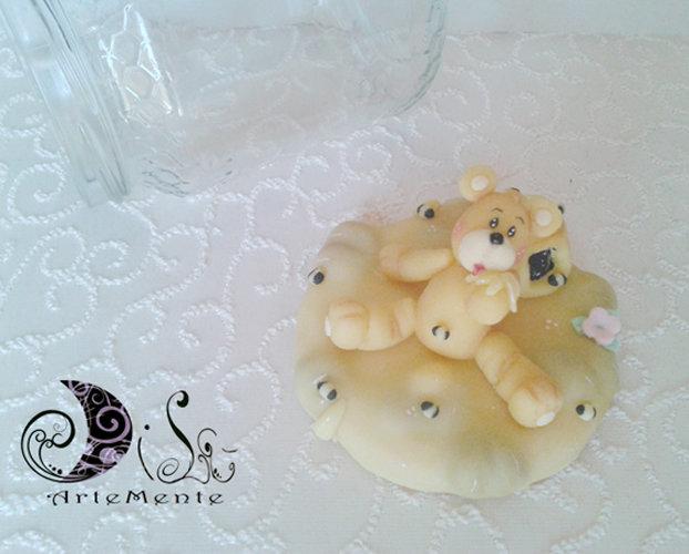 Barattolo miele decorato con orsetto