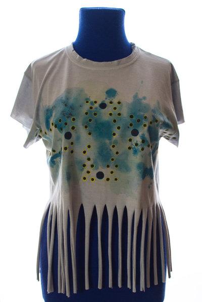 happy summer: t-shirt azzurra con frange
