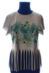 happy summer: t-shirt azzurra con frange