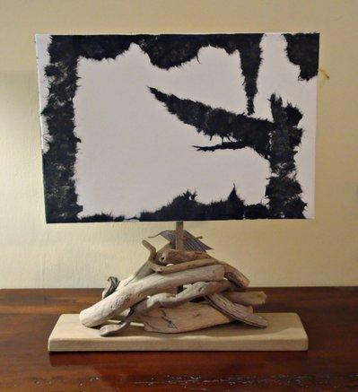 """Lampada """"ELISABETTA"""" con legni di mare"""