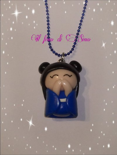 collana bambolina giapponese in fimo