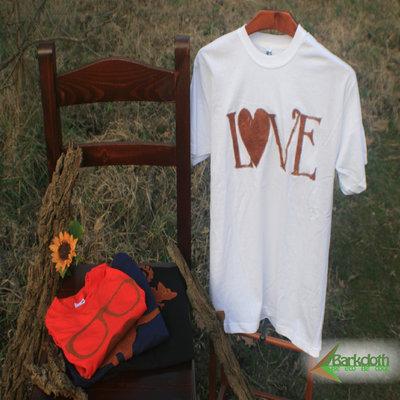 T-shirt 100% Organic LOVE - Bianca unisex (Taglia S)