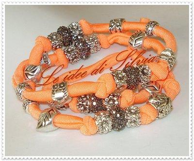 Bracciale in lycra arancione