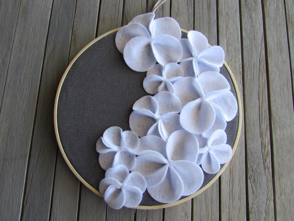 Telaietto con fiori in stoffa
